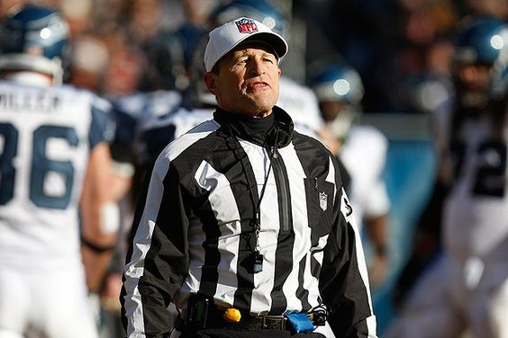 """Welcome back Ed Hochuli and the rest of the regular refs! Thank you Lord! Finally!!!...at least only the Packers """"really"""" got screwed with their pants on ;)..."""