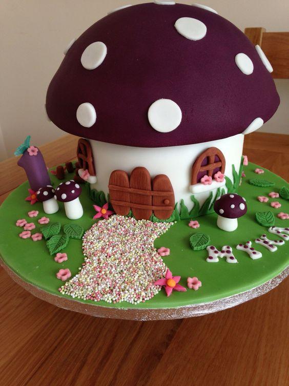 Toadstool cake by Karen
