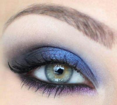 azul y morado