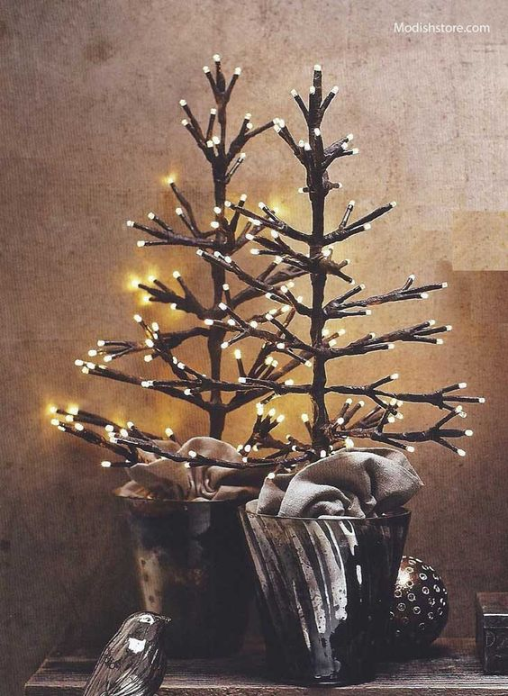 Lighted trees, Tabletop and Display on Pinterest