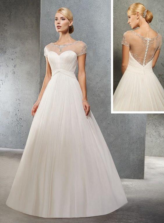 robe de mariée princesse en mousseline