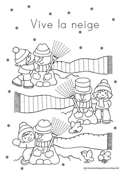 Hiver fiches activit s th me hiver l 39 hiver pinterest chronologie la boule et hiver - Activite manuelle maternelle hiver ...