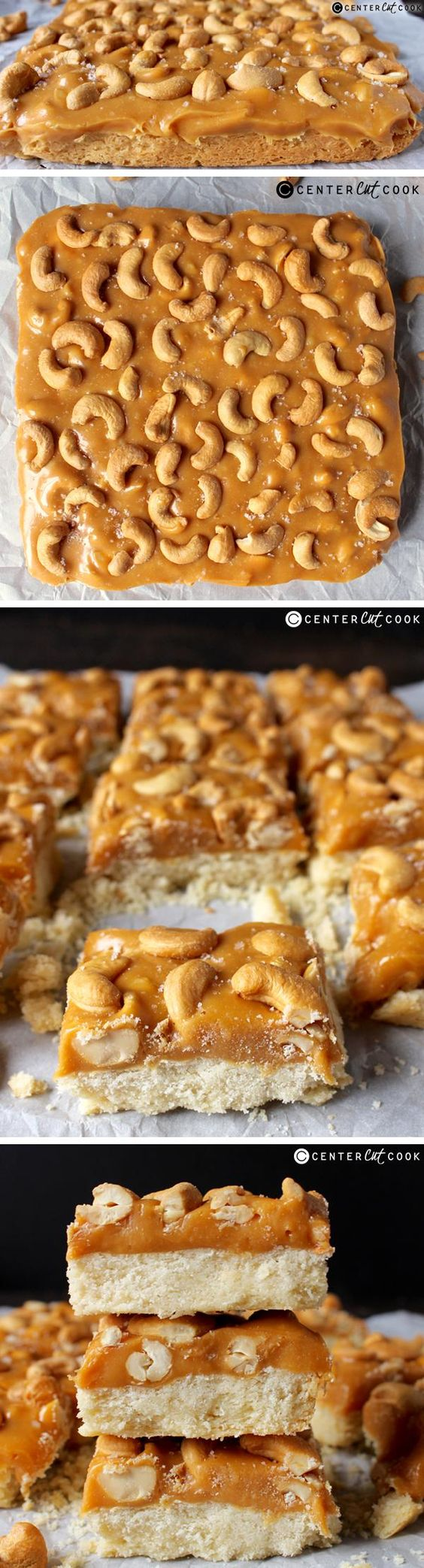 Caramel Cashew Bars | Recipe | Shortbread Crust, Caramel and Crusts
