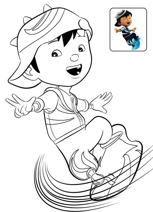 12 Printable Boboiboy Coloring Pages For Kids Coloring Pages