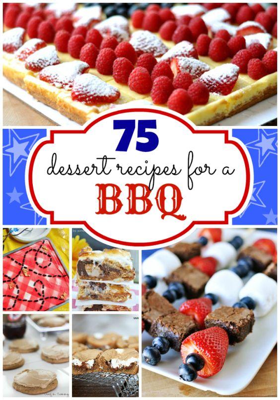 75 BBQ-worthy Desserts | www.somethingswanky.com