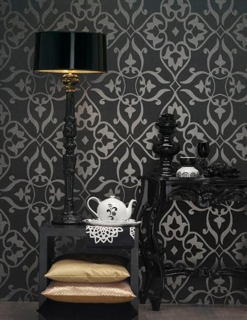 Retro wallpaper pattern transforming your room into unique - Decorating wallpapers for interior ...