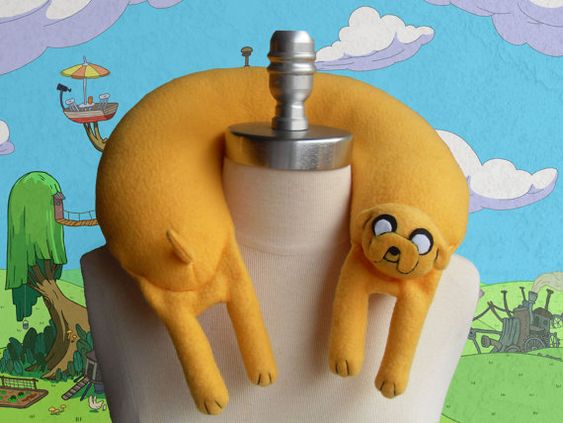 Jake the Dog from Adventure Time Travel Neck Pillow: