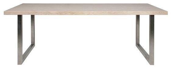 Cleve spisebord   smukt rektangulært spisebord med lækker ...