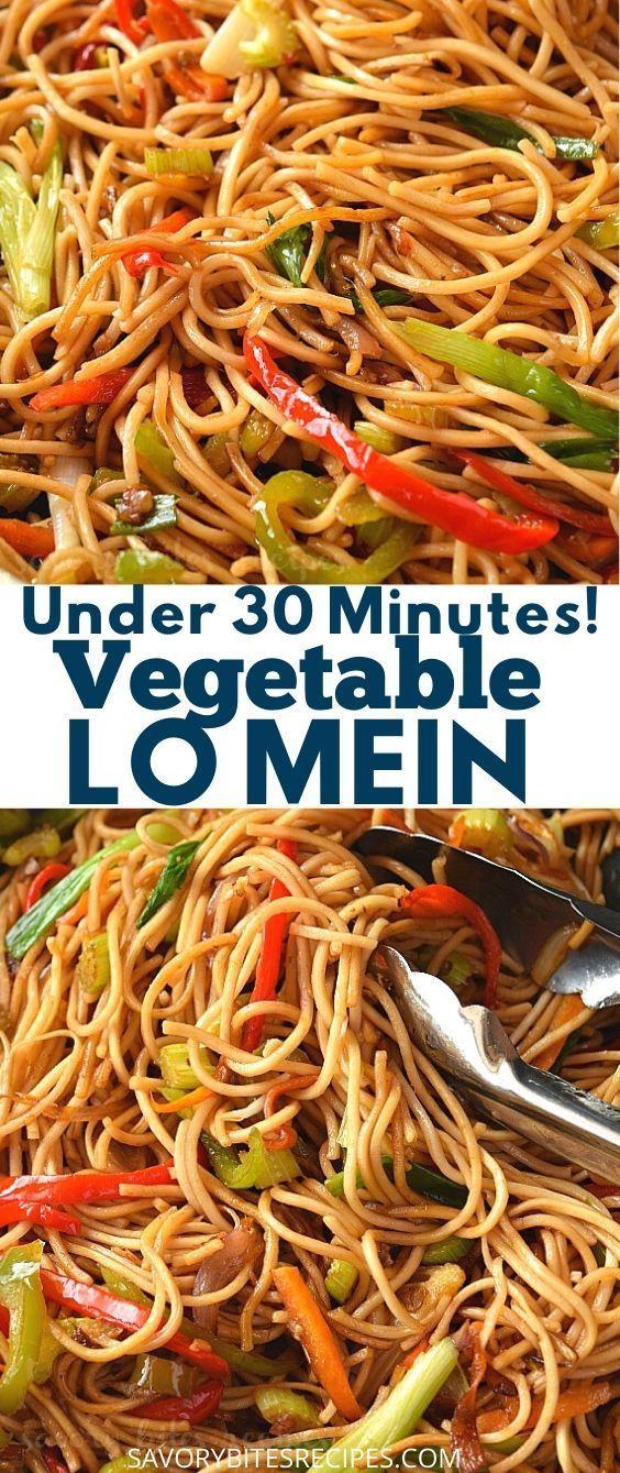 Under 30 mins- Vegetable Lo Mein