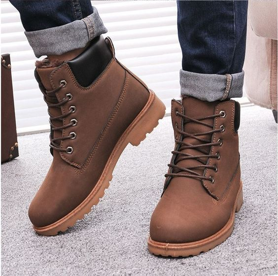 Men Snow boots Men Winter Boots Warm Snow Shoes SCE054 | For My ...
