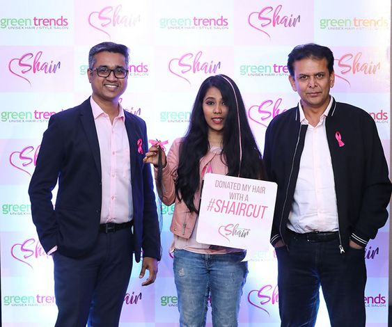 Green trends Launches a Countrywide Hair Donation Drive – green trends' SHAIR in aid of cancer patients