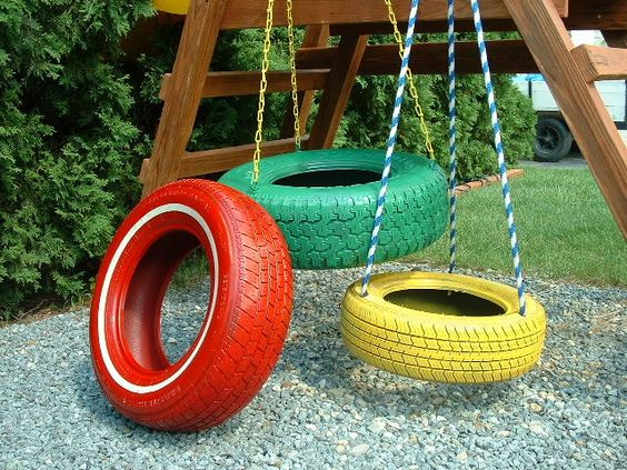 Colors the o 39 jays and swings on pinterest for Tyre swing ideas