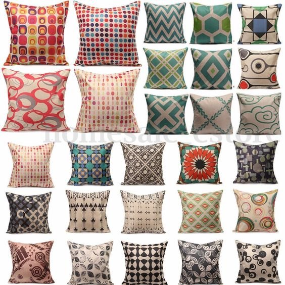 Details about Casual Style Vintage Cushion Cover Throw Pillow Covers ...