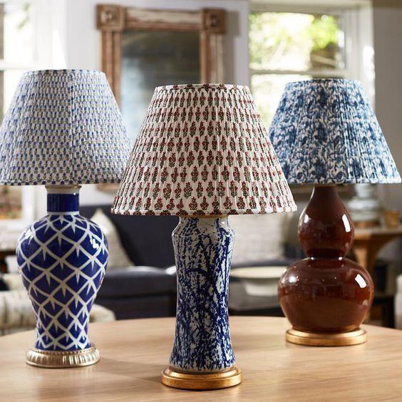 Bunny Williams Blu White Lampshade Image 2 Of 3 Pleated Lamp Shades Lampshades White Lamp Shade