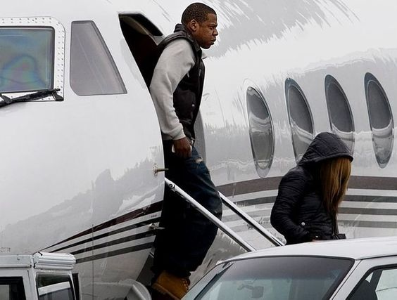 Jay-Z and his Bombardier Challenger 850