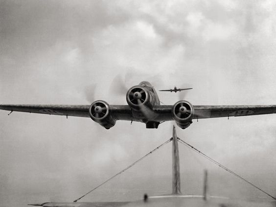 Savoia Marchettis S.79 flying over the Otranto's Channel in 1941