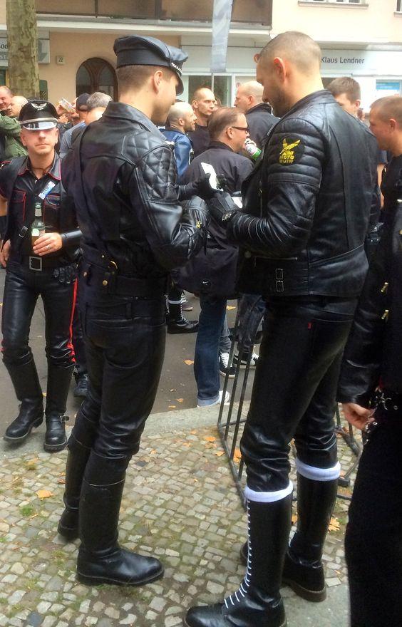 At #FolsomEurope🇪🇺 Berlin. #LeatherPride #LeatherOutdoor