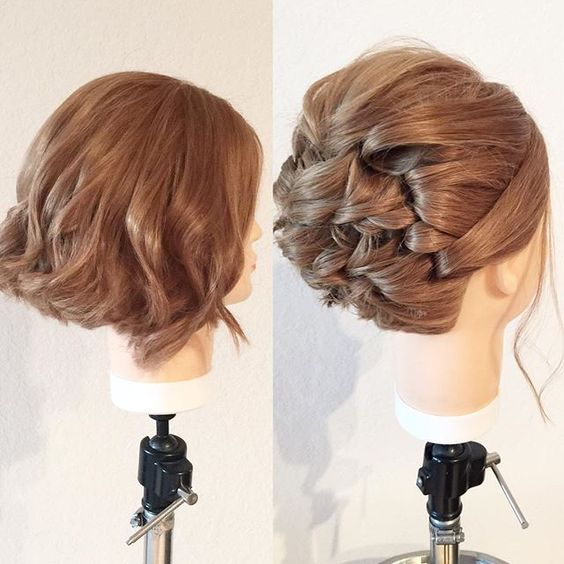 Let the fall updo tour begin! Short hair can go up! First stop today: Oviedo Mitchell Wade Salon. KellGrace.com/tour