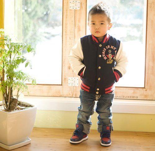 swag baby tumblr   swag varsity jacket cute baby baby swag asian     Pinterest