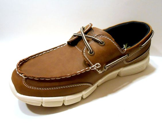Mens Boat Shoes by Island Surf Co YACHT Dark Brown, New with Box ...