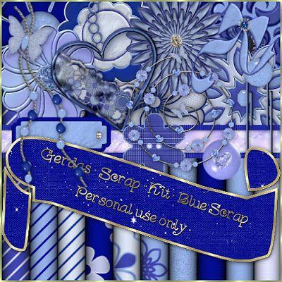 Gerdas Scrap's: Blue-Scrap