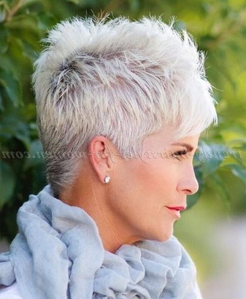 2018 Latest Short Haircuts For Grey Hair Short Hair Styles Pixie Haircuts For Fine Hair Hair Styles For Women Over 50