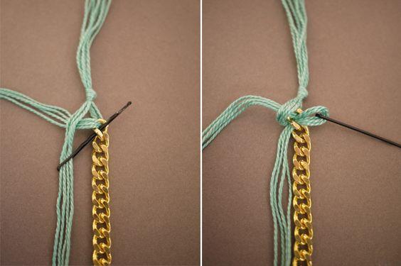Como hacer una pulsera de bisuteria tejida