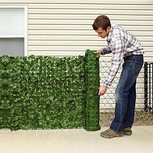 This fence covering is actually quite fun and unique at the same time. It looks just like leaves and ivy crawling up your chain link fence and provides privacy protection at the same time.