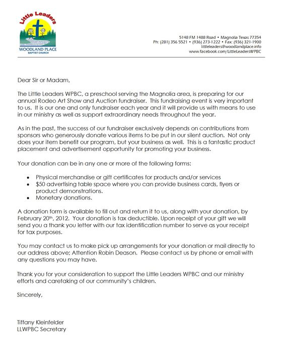 Image result for nonprofit donation letter for tax receipt