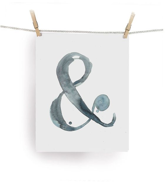 """On Etsy by shop Calamaristudio, Art & Design by Michelle Tavares: Ampersand Print - Watercolor & - Print from my Original Illustration - 8""""x10"""""""