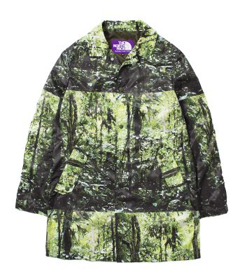The North Face Purple Label / Forest Print Mountain Wind Coat