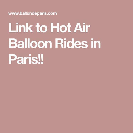 Link to Hot Air Balloon Rides in Paris!!