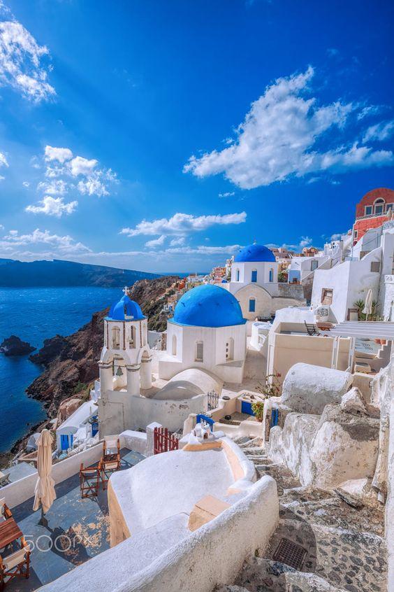 地中海 サントリーニ島 イメージ エーゲ海