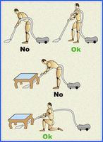 higiene postural al limpiar