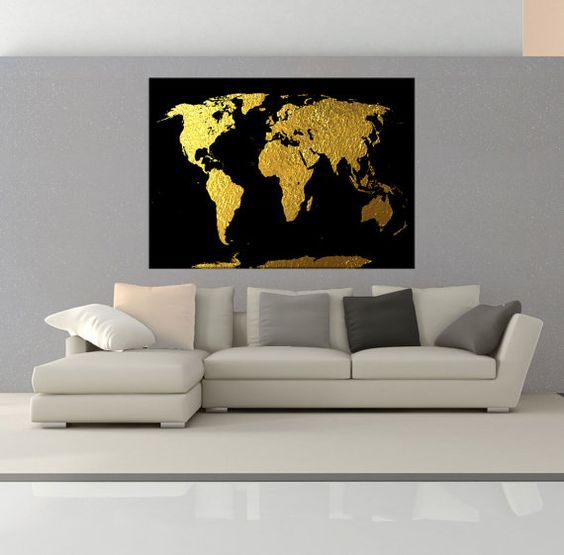 Original abstract world map canvas wall art vintage world map large gold world map wall art print map canvas print extra large wall art canvas print world map wall decals no7s32 gumiabroncs Choice Image