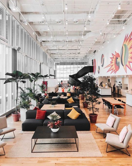 Wework On Twitter Coworking Space Design Office Interiors Open Space