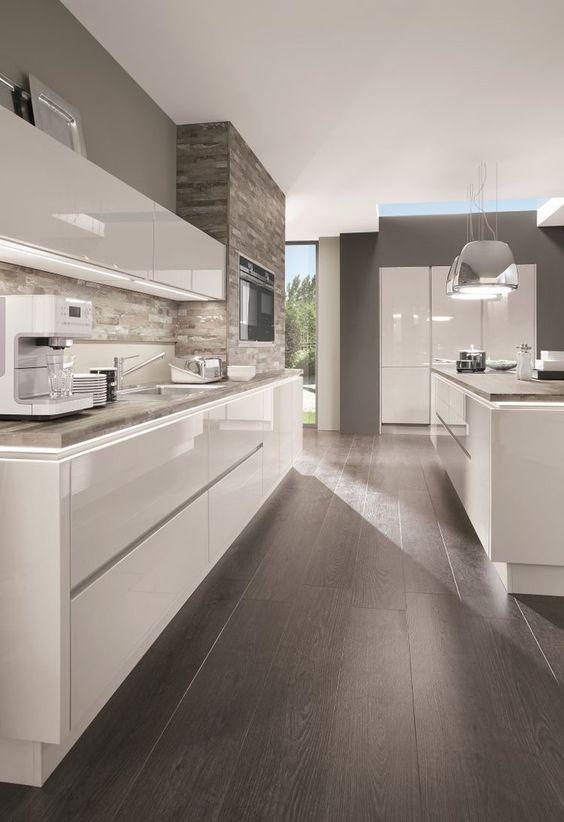 Floor colour is nice Nicole Pinterest Kitchens, Kitchen - küche ohne griffe