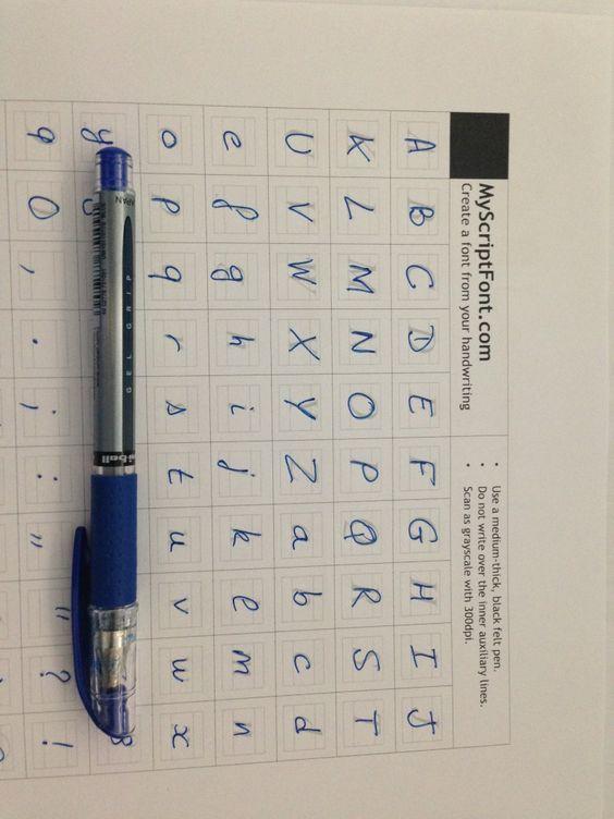 Pour créer une police de caractères avec sa propre écriture