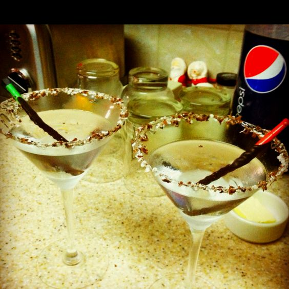 Peppermint stick martinis, Lethal drinks, but so good.