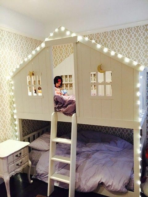 Tree House Twin Over Twin Bunk Bed Bed For Girls Room Kid Beds Bunk Beds