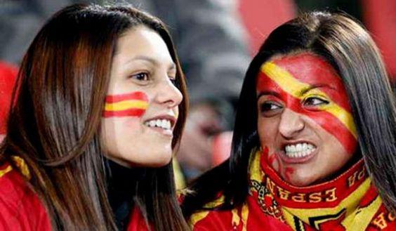 Spanische Fussball Fans