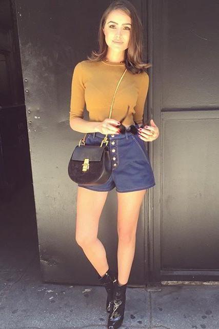 chole handbags - Olivia Culpo wearing A.L.C. Hansen Knit Top, Rag & Bone Branson ...