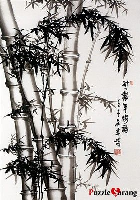 """""""BLACK BAMBOO PAINTING"""" Jigsaw Puzzles 1000 Pieces"""