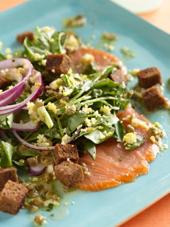 Smoked Salmon and Watercress Salad with a Lemon-Caper Vinaigrette: Cb Food Recipes, Food Stuff, Salad Recipes, Must Try Recipes, Pasta Salads, Recipes Salads, Irish Food, Lemon Caper Vinaigrette