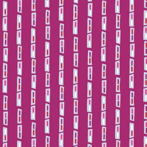 Manufacturer: Andover (A-5749-E)  Designer: Jane Dixon  Collection: City Scenes  Print Name: Traffic Jam in Magenta  Weight / Material / Width: Quilting, Cotton, 44/45 inches  Horizontal repeat: 6 inches     Rectangular Shapes are about 1/4 by 1/2 inch  $4.95/FQ