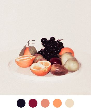 Fruit in soft colors