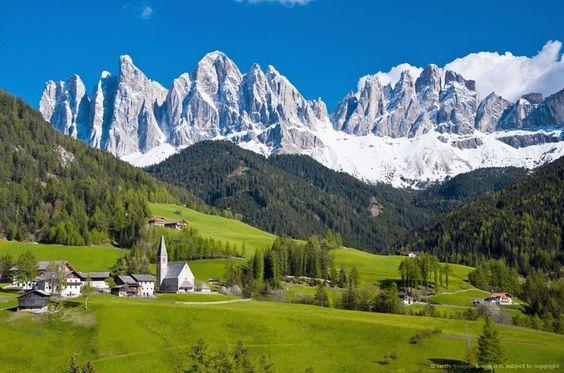 Dolomites, Spring