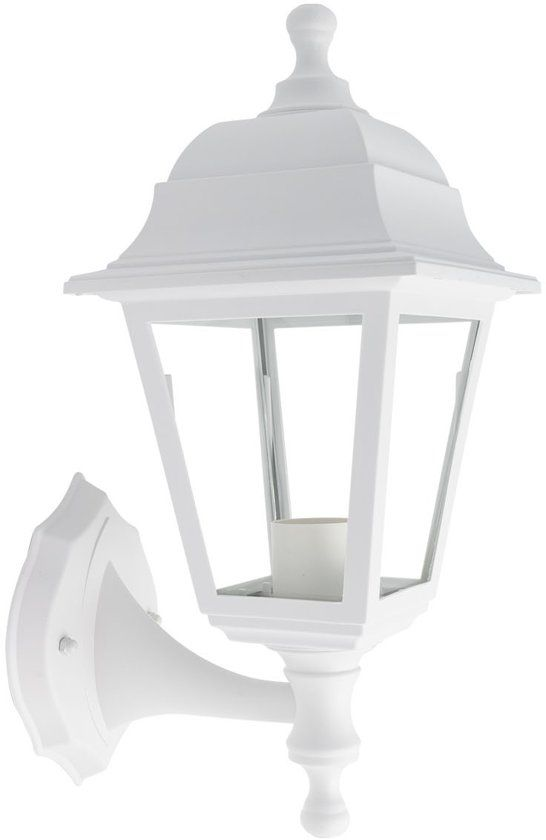 Buiten Wandlamp Vil Ip44 Wit Armatuur Ondermontage 1x E27 Lamp Wandlamp Buiten Wandlamp Lampen