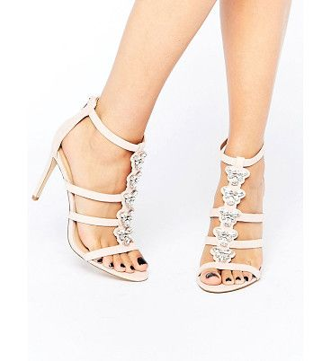 On SALE at 36% OFF! Leisi jewel front heel sandal by ALDO. Shoes by ALDO, Faux-leather upper, Back zip opening, Front embellishment, Open toe, High heel, Wipe with a damp spong...