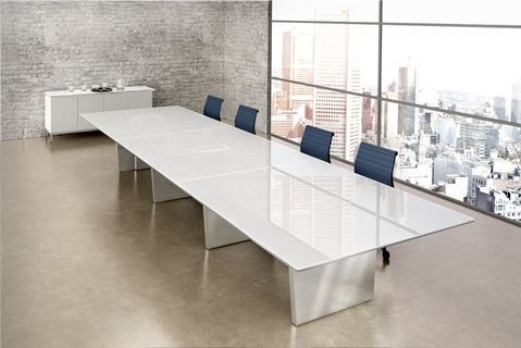 White Lacquer Conference Room Table Modern Conference Table Design Modern Conference Table Conference Table